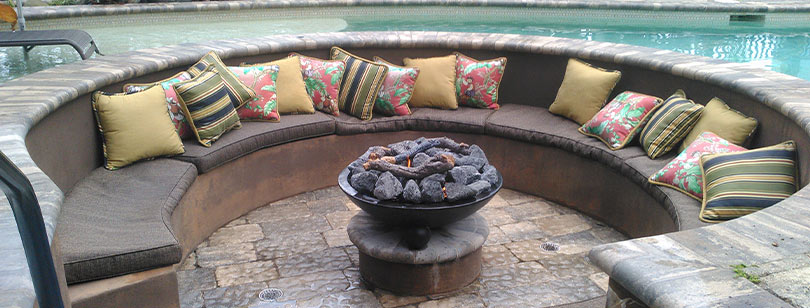 Couch Around a Fire Bowl | Jacobs Total Gas Services - Expert Propane & Natural Gas Installation Services in Naples, Marco Island, Bonita Springs & Estero