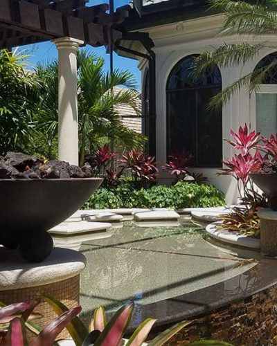 Firepit on Pool   Jacobs Total Gas Services - Expert Propane & Natural Gas Installation Services in Naples, Marco Island, Bonita Springs & Estero