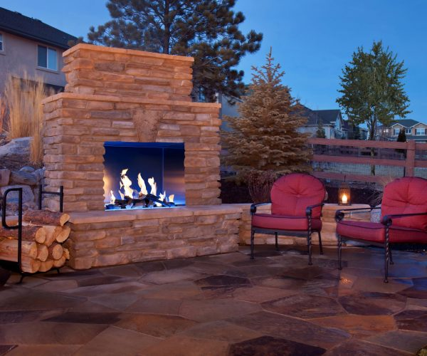 Outdoor Fireplace with Fake Logs   Jacobs Total Gas Services - Expert Propane & Natural Gas Installation Services in Naples, Marco Island, Bonita Springs & Estero