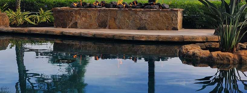 Outdoor Firepit Accent for Pool | Jacobs Total Gas Services - Expert Propane & Natural Gas Installation Services in Naples, Marco Island, Bonita Springs & Estero