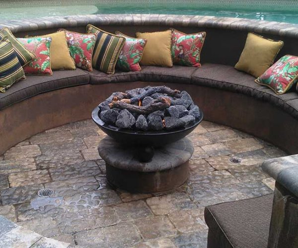 Poolside Firepit | Jacobs Total Gas Services - Expert Propane & Natural Gas Installation Services in Naples, Marco Island, Bonita Springs & Estero